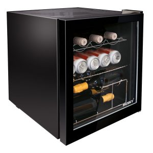 Black Drinks Cooler with light